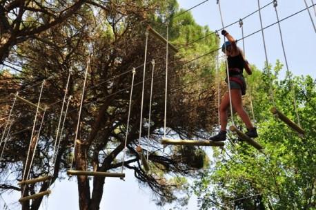 Parco Avventura presso il Parco Naturale di Cervia